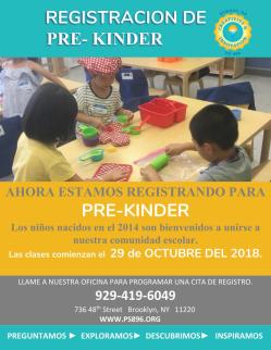 PS896 PREK SPANISH