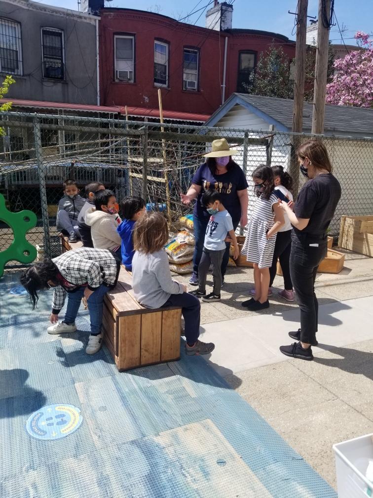 school garden gathering