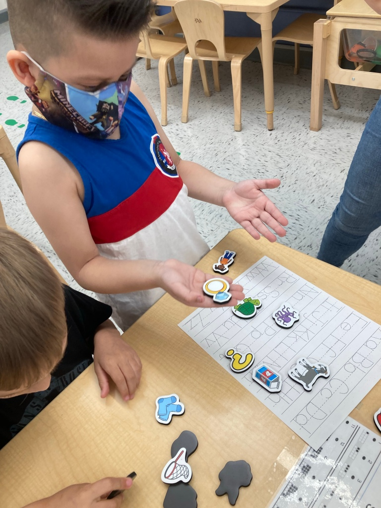 working on letter sounds