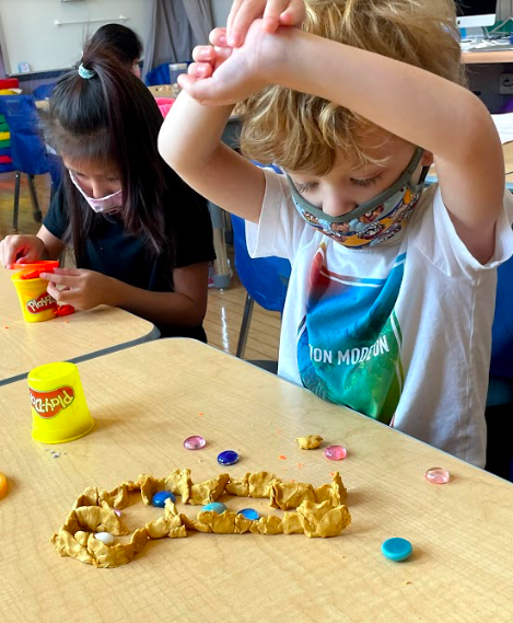working with playdoh