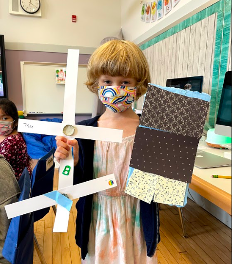 showing off student work